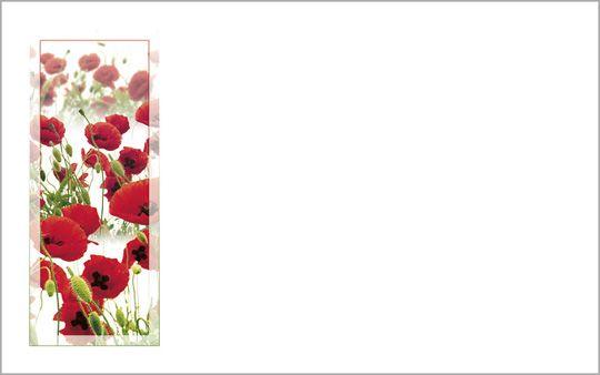 Kartenkuvert, Mohnblumen