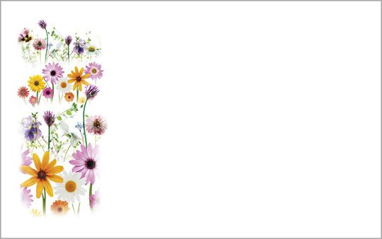 Kartenkuvert, Lass Blumen sprechen