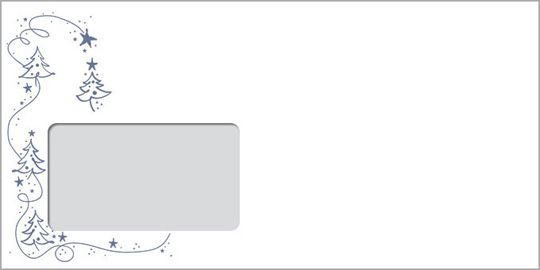 Silberbäumchen, DIN-lang-Fensterkuvert