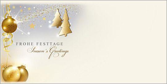 Weihnachtsschimmer, DIN-lang-Kuvert ohne Fenster