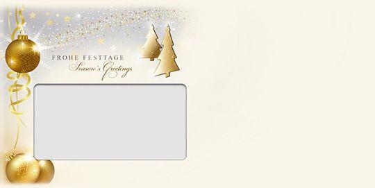 Weihnachtsschimmer, DIN-lang-Fensterkuvert